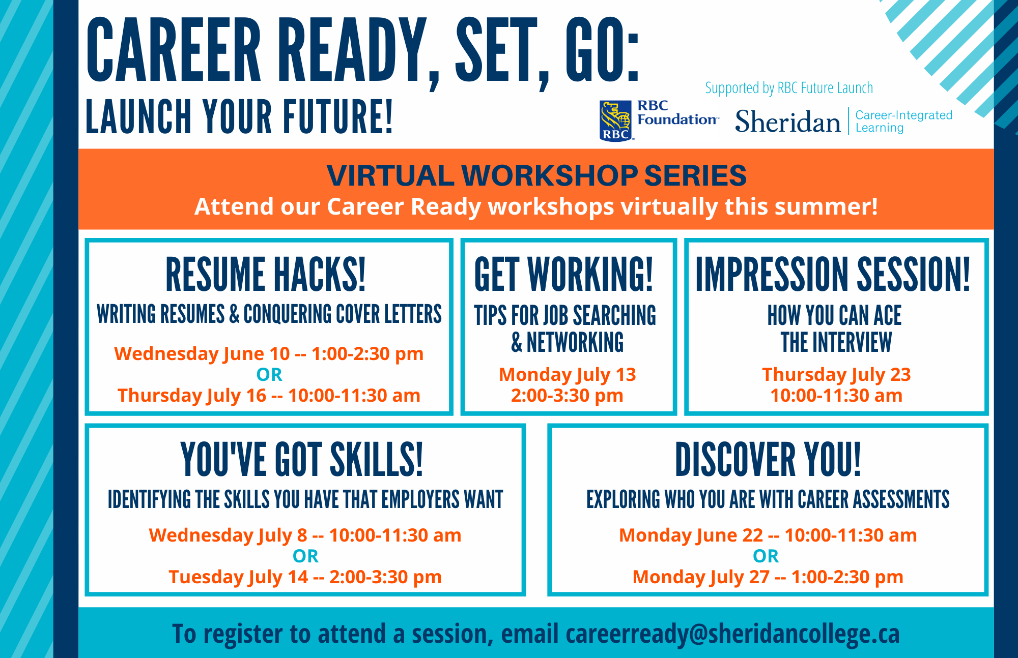 Career Ready, Launch Your Future online workshop poster