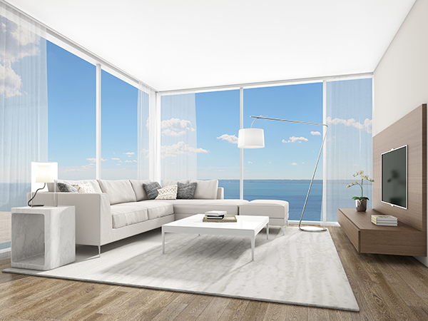 Artist's rendering of a bedroom suite from Adi Development's Nautique project.