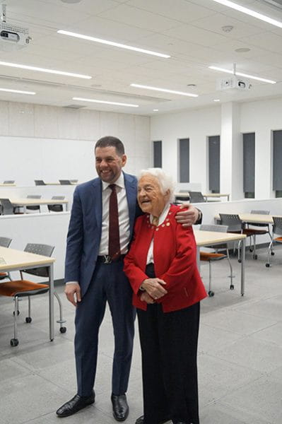 Mohamad Fakih and Sheridan's Chancellor Hazel McCallion