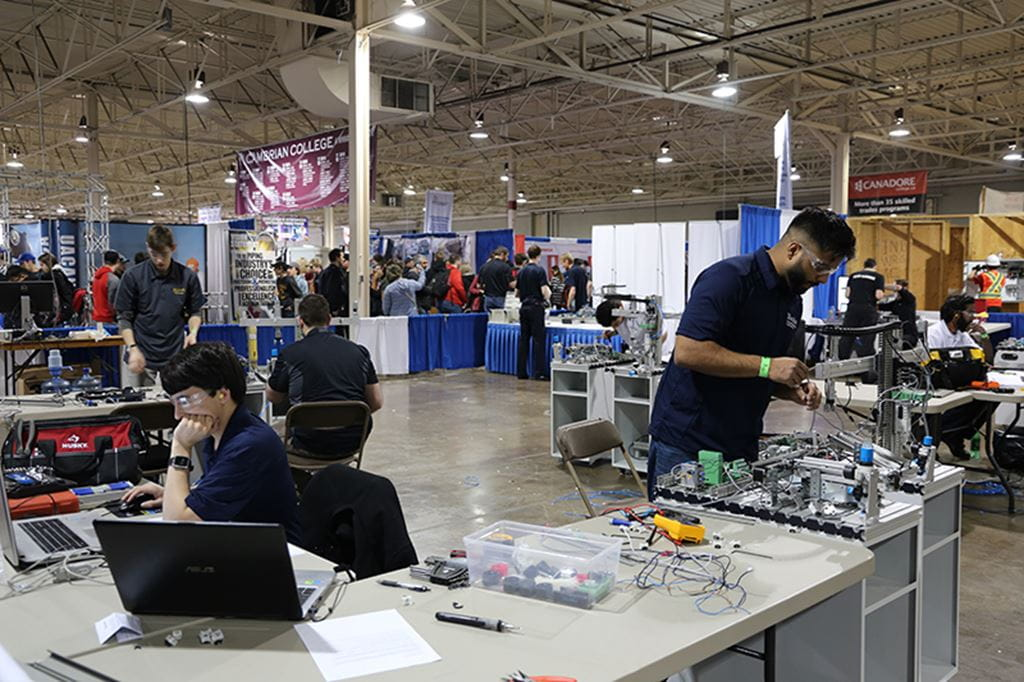 Sheridan students at the 2017 Skills Ontario competition