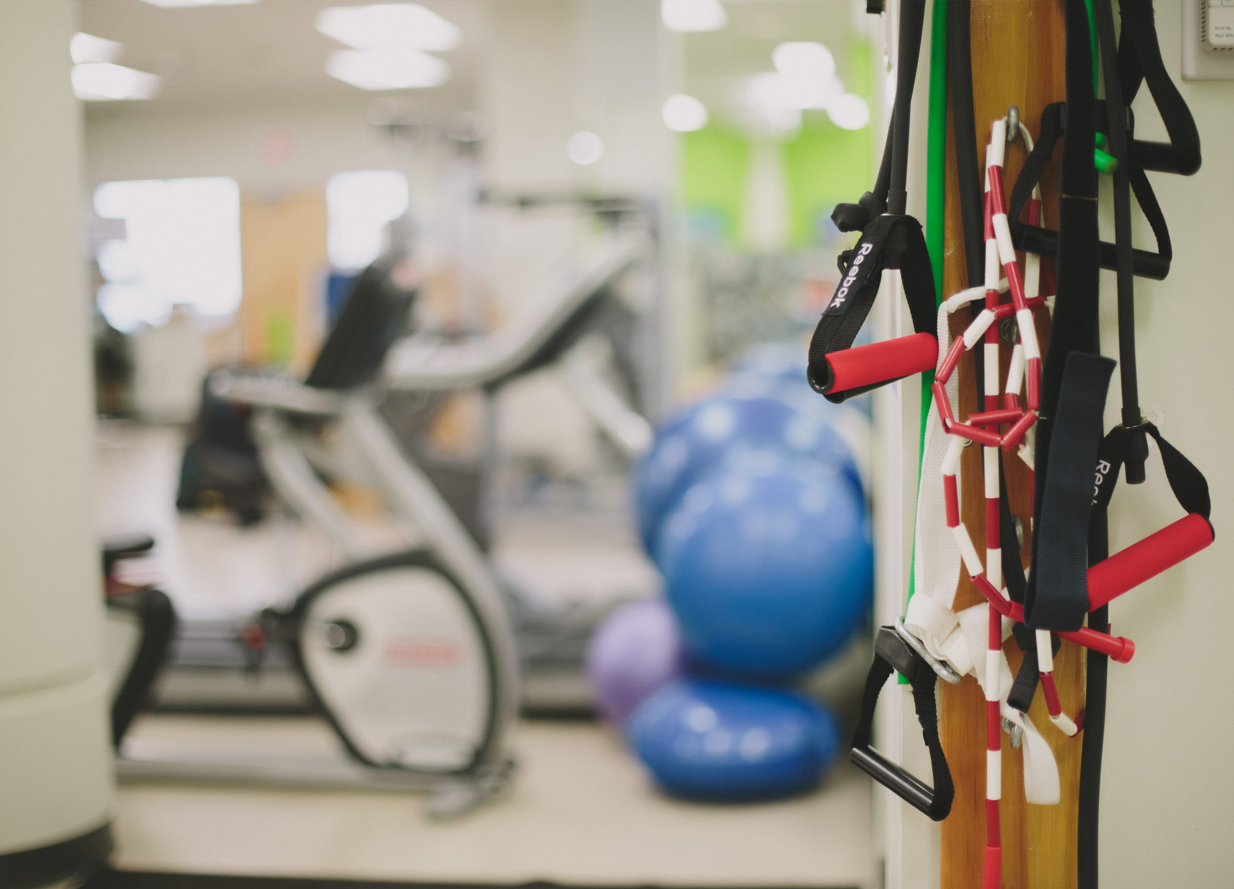 Gym equipment in the Athletic Therapy classroom