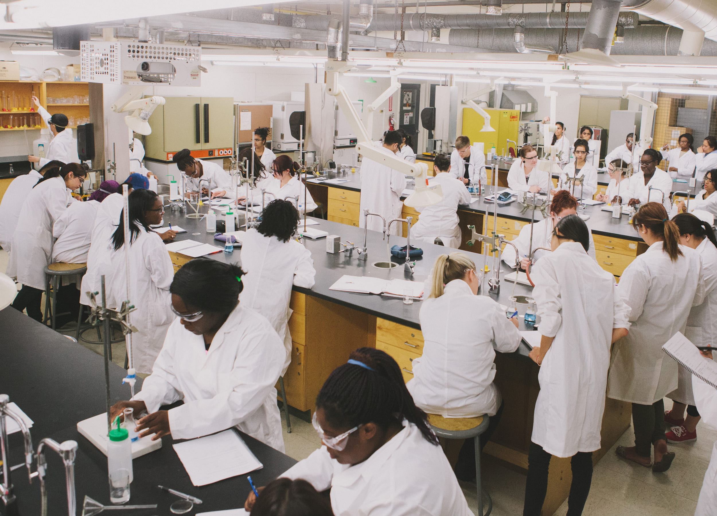 Chemical Laboratory Technician students in a classroom