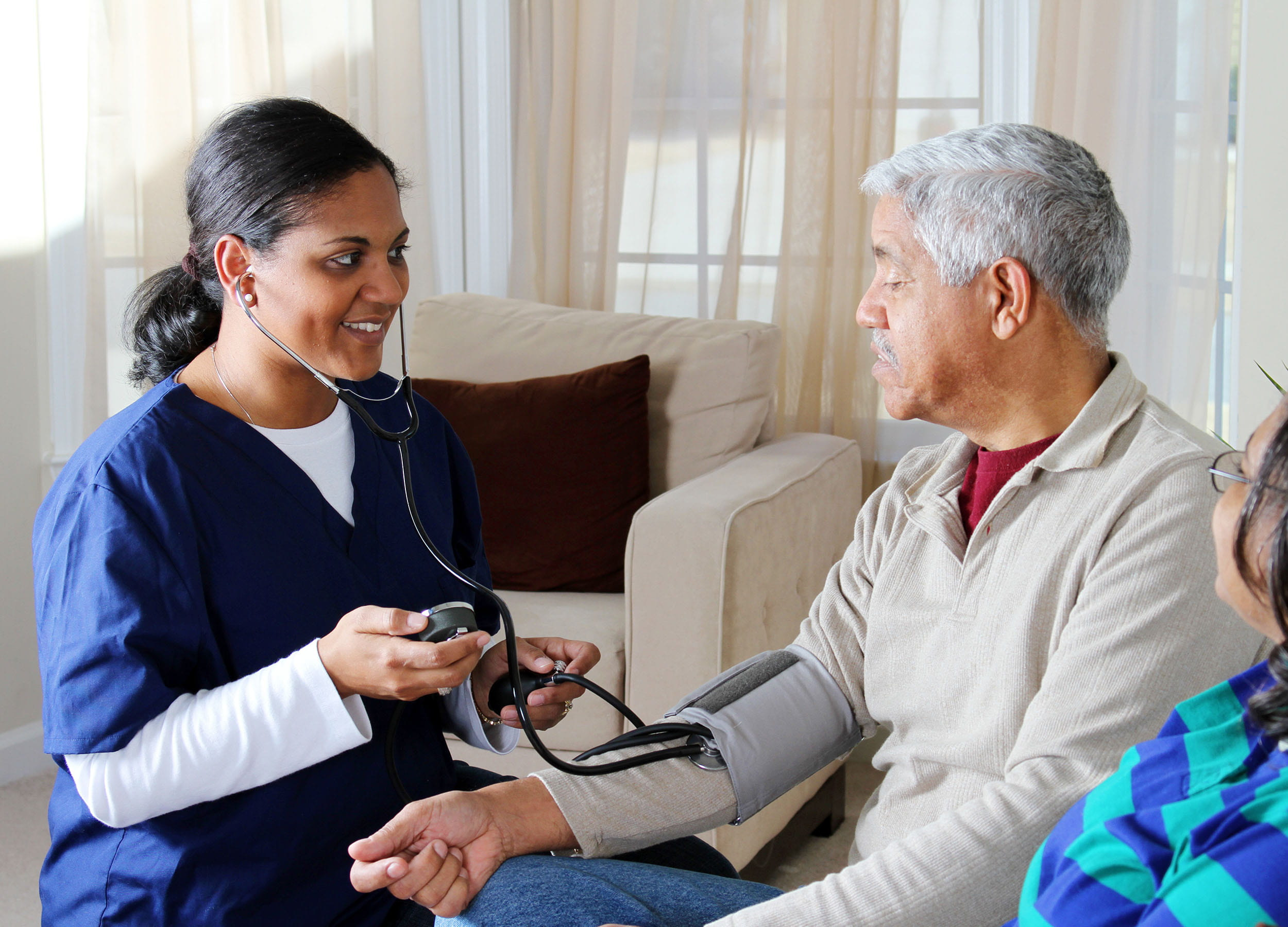 Personal Support worker meeting with a client